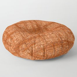 Textured Tweed - Rust Orange Floor Pillow