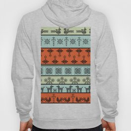 folk embroidery, flowers, birds, peacocks, horse, symbols earth, sun fertility, harvesting Hoody