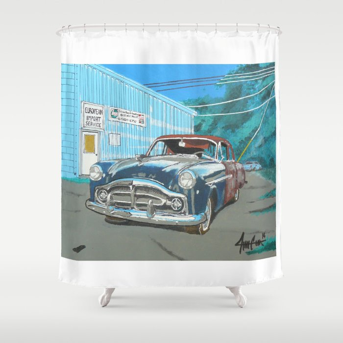 rusty Packard car Shower Curtain by 001slick001 | Society6