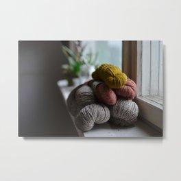 Yarn stash Metal Print