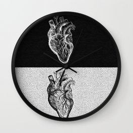 Two Sided Heart Wall Clock