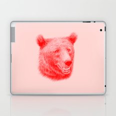 Brown bear is red and pink Laptop & iPad Skin