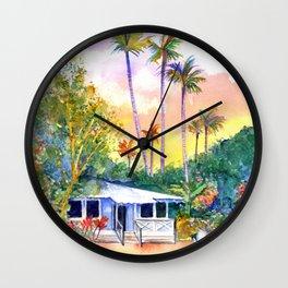 Blue Kauai Cottage Wall Clock