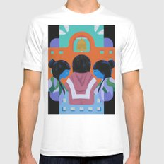 A Mission MEDIUM Mens Fitted Tee White