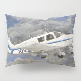 Soaring, Piper Cherokee Airplane Pillow Sham