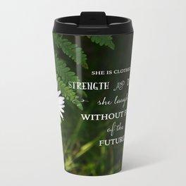 Clothed with Strength Metal Travel Mug
