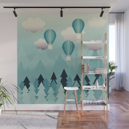 Hot Air Balloons Wall Mural
