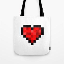 8bit pixelated heart. Tote Bag