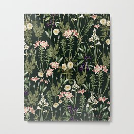 Dark Botanical Garden #society6 #natureart #pattern Metal Print