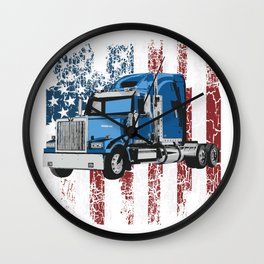 Truck Truck Trucker Truck Driver Truck Wall Clock