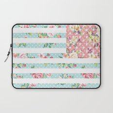 Flower Flag USA Laptop Sleeve