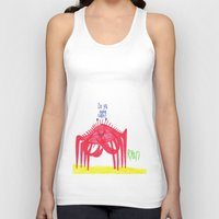 cuddle Tank Tops featuring Wanna Cuddle? by Ryan van Gogh