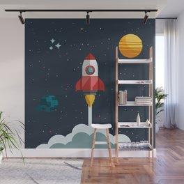 Space rocket Wall Mural