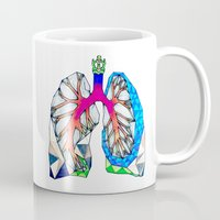 lungs Mugs featuring Lungs by Heidi Failmezger