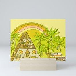 a frame simple living // banana pancakes // retro surf art by surfy birdy Mini Art Print