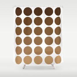 Monochrome Brown Circles Shower Curtain