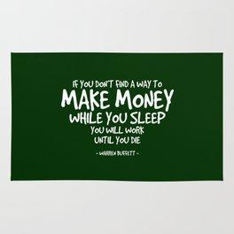Make Money Quote - Warren Buffett Rug
