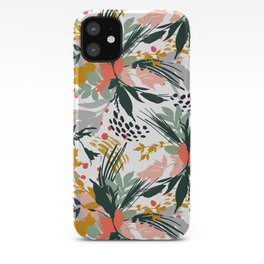 Botanical brush strokes I iPhone Case