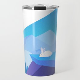 Origami Bunny (Nap on the cliff) Travel Mug
