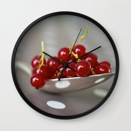 Redcurrants Wall Clock