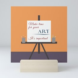 Make Time For Art (Colorful Calligraphy) Mini Art Print