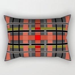 Gray orange plaid Rectangular Pillow