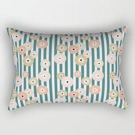 Delicate flowers on stripes Rectangular Pillow