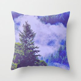 Pure Purple Mists of Northern California Throw Pillow