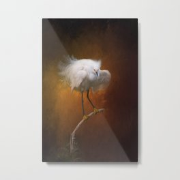 Snowy Egret II Metal Print