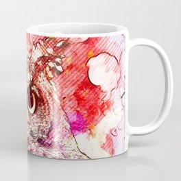 Watercolor Owl, Vintage Owl, Mixed Media Owl, Animal Owl, Bird Owl, Best Owl,Owl Print, Owl Painting Coffee Mug