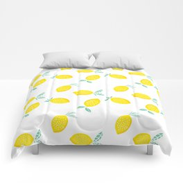 Squeeze The Day Lemon Comforters