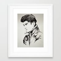 zayn malik Framed Art Prints featuring Zayn Malik by Jade W