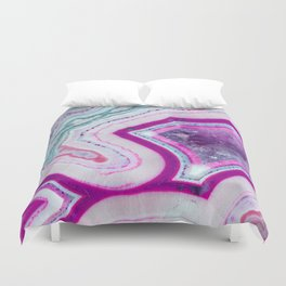 Cotton Candy Agate Slice Duvet Cover