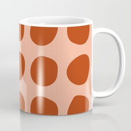 Irregular Polka Dots terracota Coffee Mug