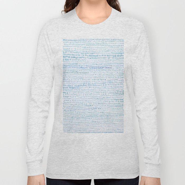 BLUE/GREEN DOTTED PATTERN  Long Sleeve T-shirt