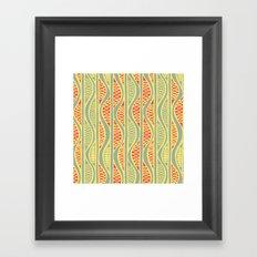 Peapods - Folk Framed Art Print