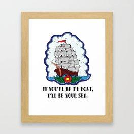 I live to let you shine. Framed Art Print