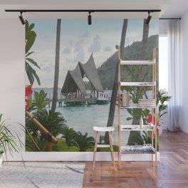 Bora Bora Tahiti Boat Landing Wall Mural