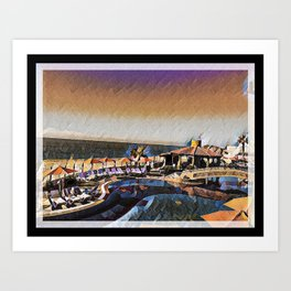 Colorful Cabo Art Print