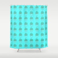 cactus Shower Curtains featuring Cactus by Mr and Mrs Quirynen