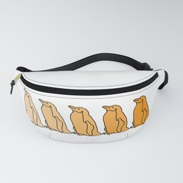 Waddle of Penguins in Gold Tones Fanny Pack