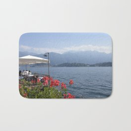 Panoramic view of Lake Como, Italy. Bath Mat