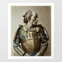 Kusakabe Kimbei - Samurai - Vintage Photo Art Print