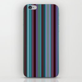 Retro Stripe in Blueberries and Orchids iPhone Skin