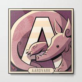 A is for Aardvark Metal Print