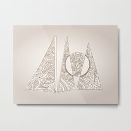 geometric zen composition three triangles Metal Print