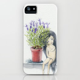 listening to the lavender's breath iPhone Case