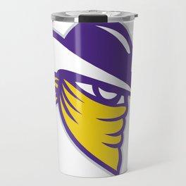 Bandit Covered Face Icon Travel Mug
