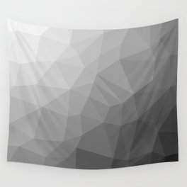 LOWPOLY BLACK AND WHITE Wall Tapestry