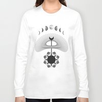 moon phases Long Sleeve T-shirts featuring Moon phases  by gotchii